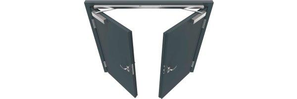 Obentürschließe  für zweiflügelige Türen