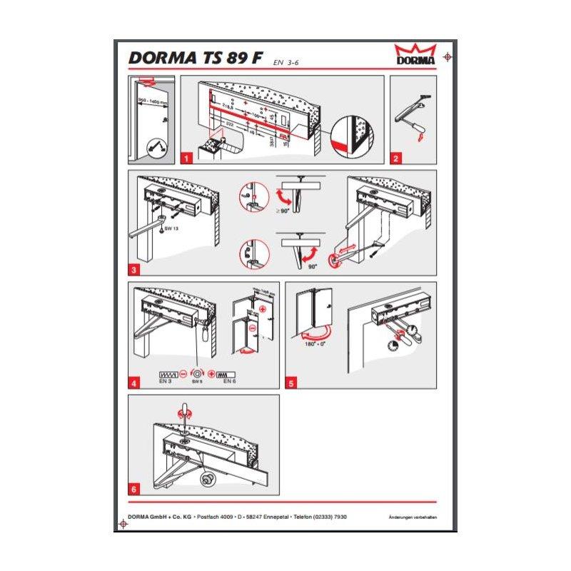 dorma t rschlie er ts 89f f r nahezu allen t rgr en bis 1250 mm 80 00. Black Bedroom Furniture Sets. Home Design Ideas