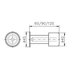 FSB Türpuffer Typ 38 3880 für Wandbefestigung...