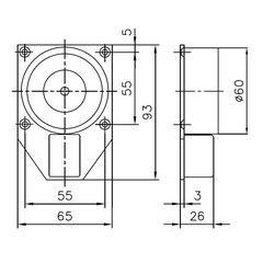 Hekatron Türhaftmagnet für Wandmontage THM425...