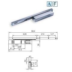 TS99FLR/K Set f. FB 950-1250 mm EN2-5 silberfarb....