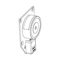 Türhaftmagnet GEZE Grundmodell, mit Klemme zugelassen mit allen GEZE Rauchschalterzentralen